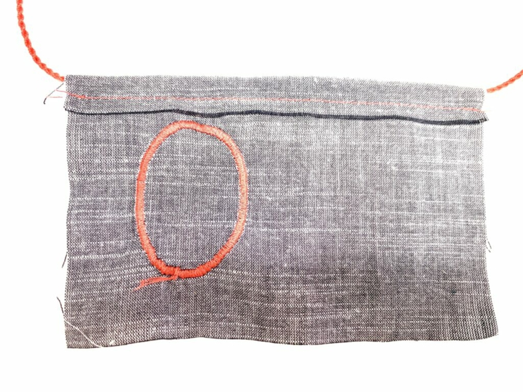 Tutorial cucire un disegno su un pezzo di stoffa, festa dei nonni lavoretti, tutorial sacchettino da tè