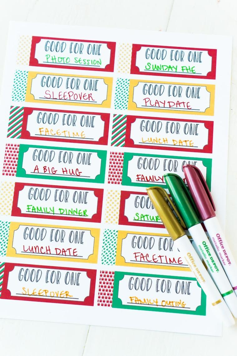 Sticker con scritte in pennarelli colorati, regalo festa dei nonni
