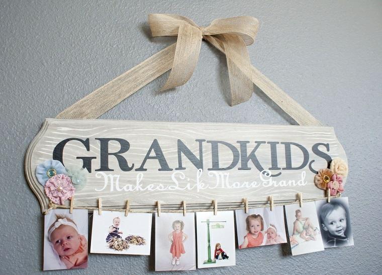 Regali per la festa dei nonni, cornice di legno da appendere alla parete con foto