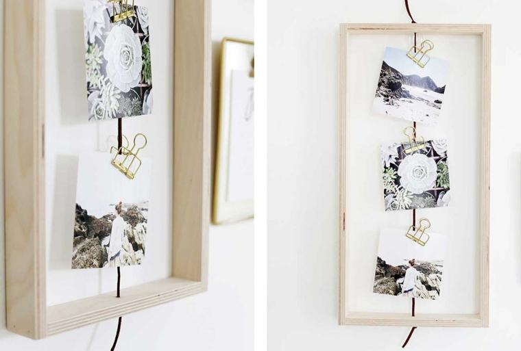 Regali per la festa dei nonni, cornice di legno con fotografie da appendere