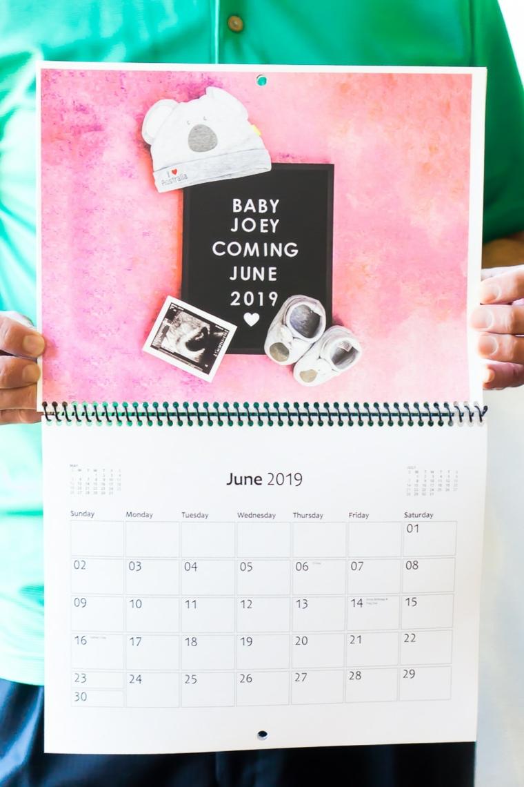 Calendario con fotografie e sticker attività, regalo festa dei nonni