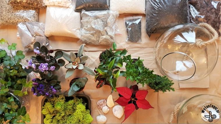 Materiale per fare un terrarium, regalo festa dei nonni, tutorial come fare terrarium