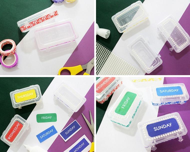 Tutorial decorazione scatole dei medicinali con giorni della settimana, festa dei nonni lavoretti