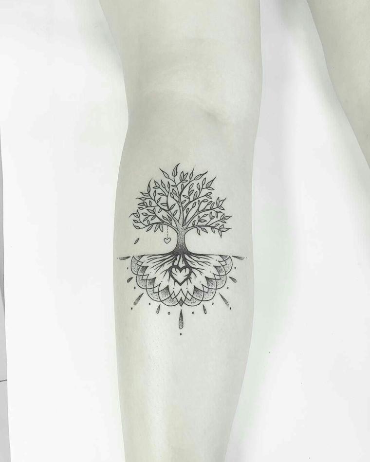 albero della vita tattoo disegno mandala avamraccio tatuaggio donna