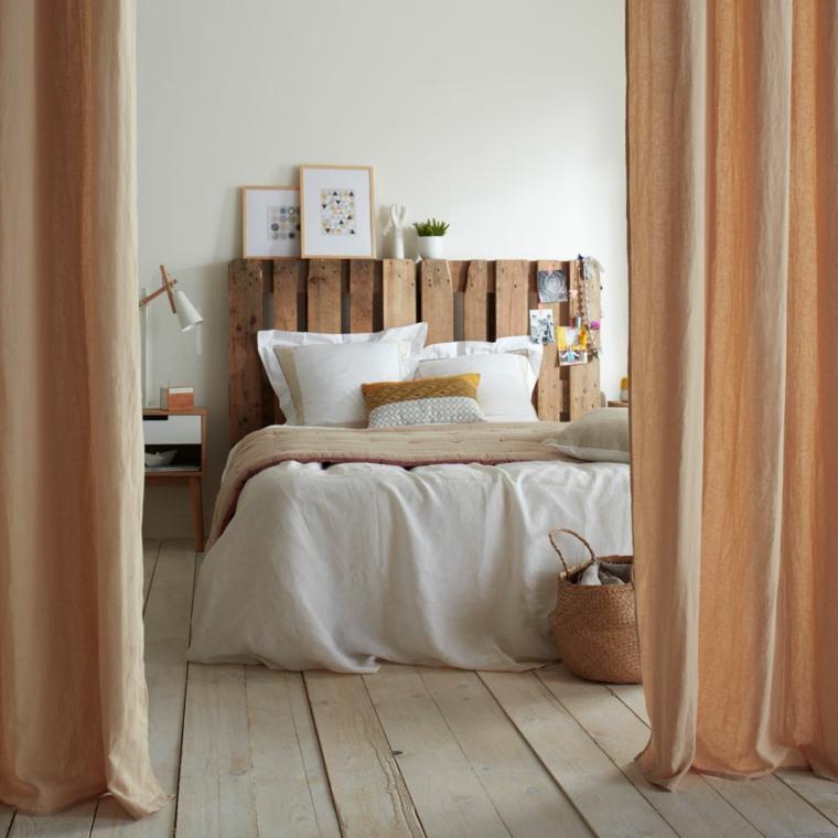 Come fare testiera del letto, testata del letto in pallet, camera da letto con tende