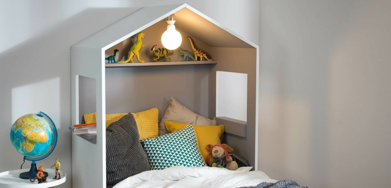 Testata letto in legno per camera dei bambini, come fare una testiera