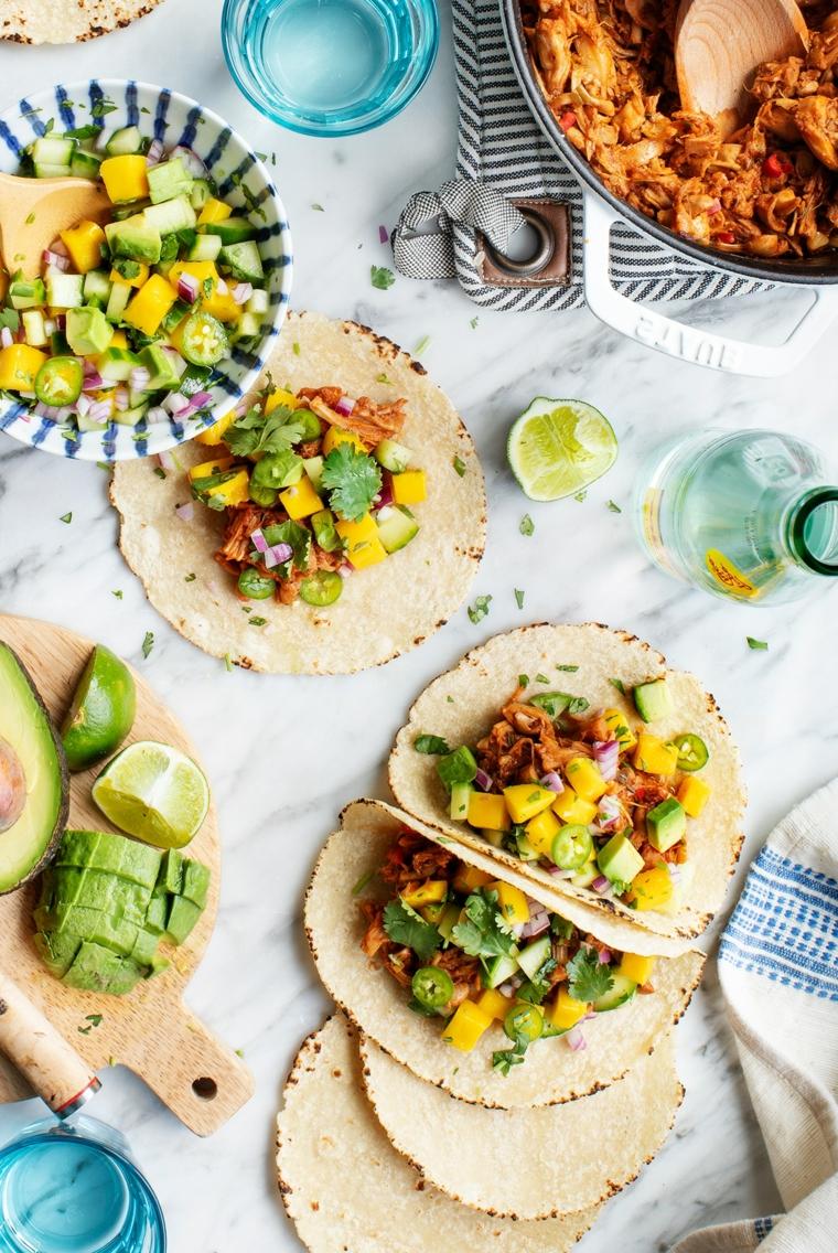 cosa cucino stasera tortillas verdure avocado limone mango ingredienti cipolla verde