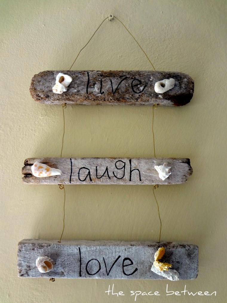 Lavoretti in legno fai da te, decorazioni da parete con scritte