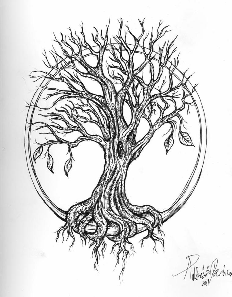 disegni per tatuaggi famiglia foglio bianco matita tattoo uomo donna figura cerchio