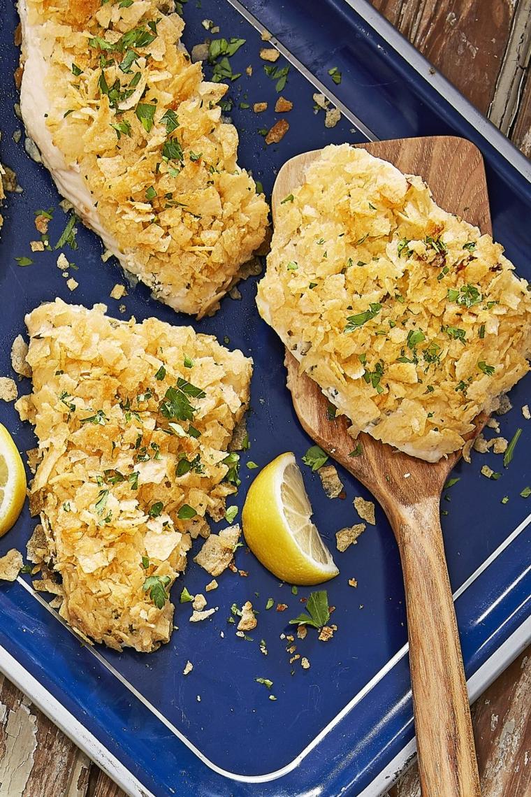 filetti pesce gratinati forno limone erbette cena veloce carne pirofila