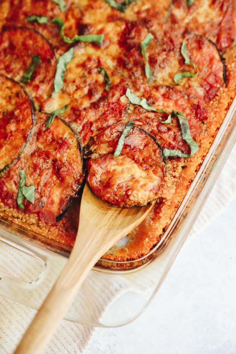 melanzane pomodoro mozzarella erbette ricette apericena mestolo legno