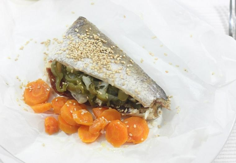 merluzzo ripieno verdure controno carote tagliate rondelle ricette economiche per cena