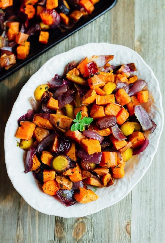 non so cosa fare da mangiare stasera verdure forno patate dolci melanzane piatto vegetariano