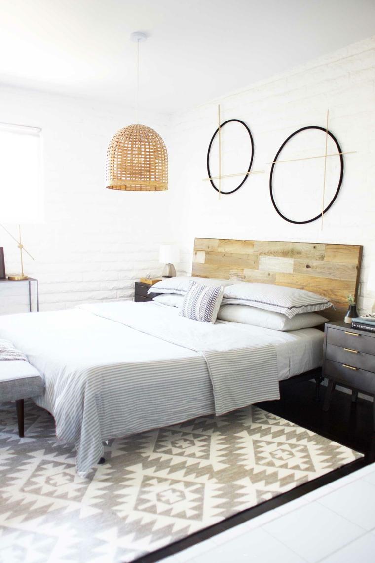 Testata letto fai da te tutorial, pannello di legno come testata del letto