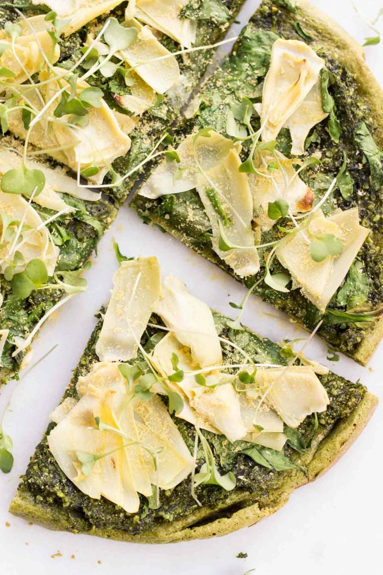 pizza vegetariana ricetta impasto quinoa formaggio spinci stuzzichini apericena