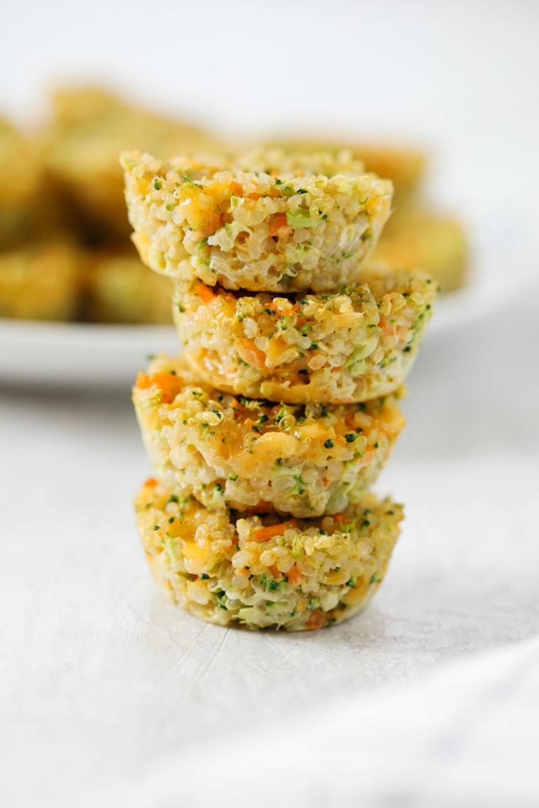 quinoa bites muffin apericena vegetariano verdure ingredienti erbette
