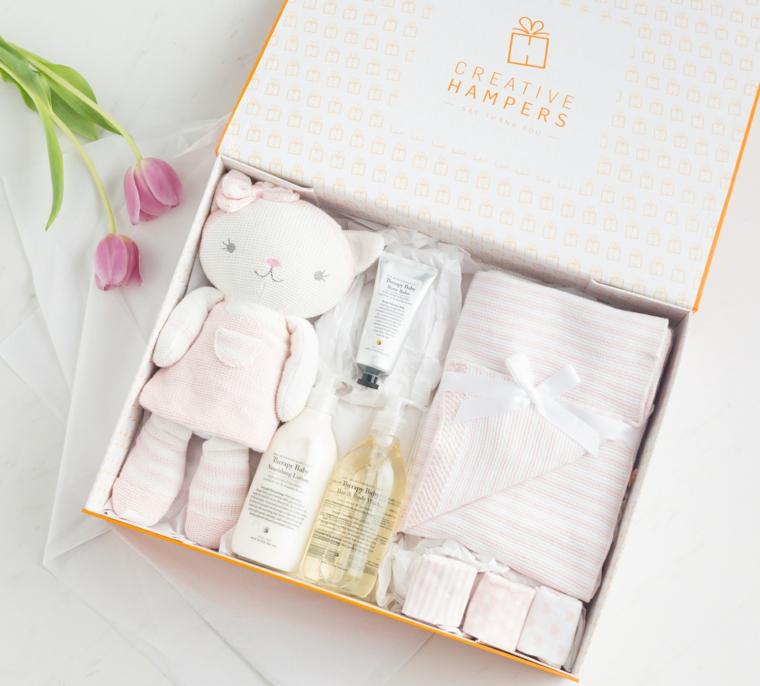 regalo padrino e madrina battesimo scatola peluche vestitini fiore rosa petali