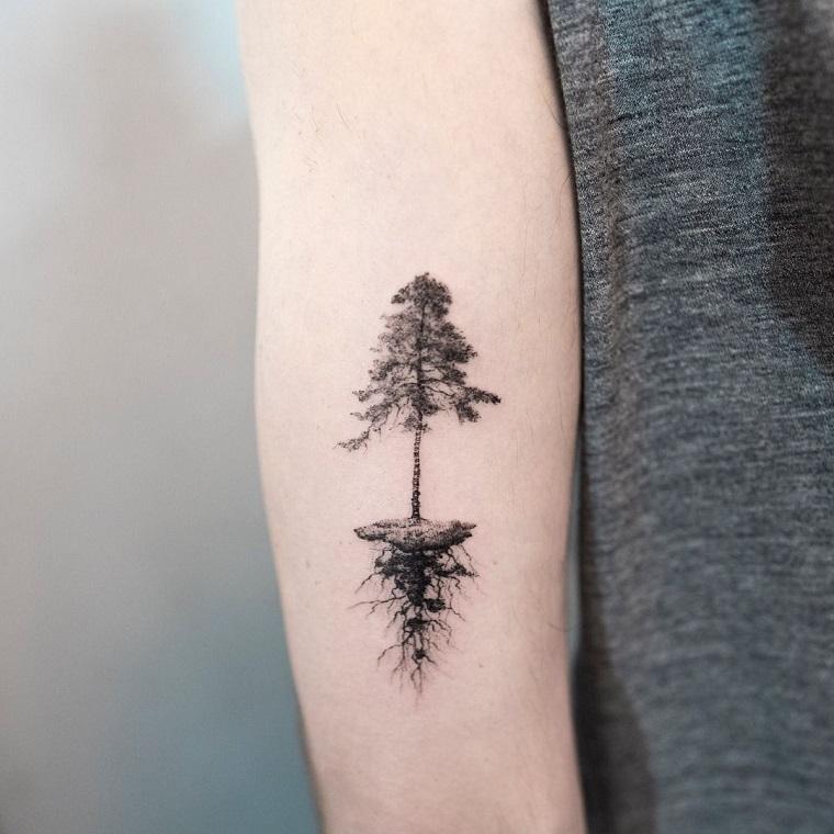 tatuaggi avambraccio donna tattoo albero della vita radici braccio femminile