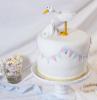 torta per battesimo bimba decorazione cicogna ghirlanda pasta di zucchero