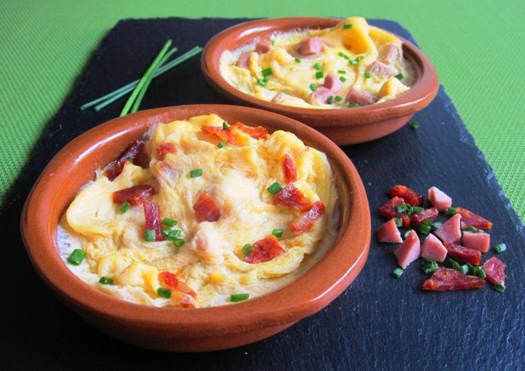 tortilla francese ciotola salame prosciutto formaggio fuso erbette secondo piatto cena