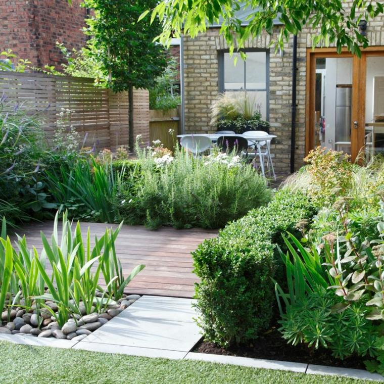 bordure per aiuole fai da te sassi pietre piante foglia verde alberello set da giardino