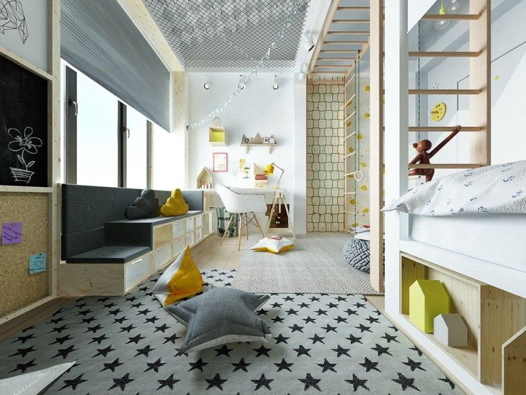 camere da letto moderne per ragazza tappeto stelle sala giochi palestra bimbi