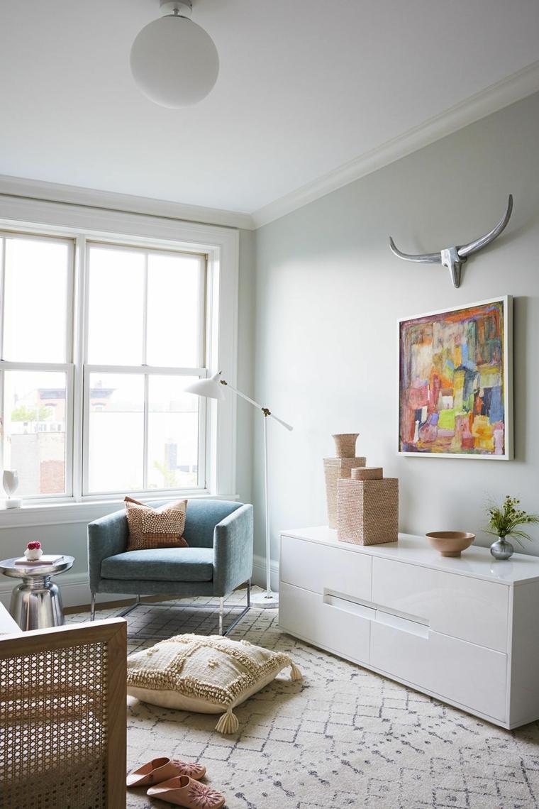 camerette particolari per bambini mobile quadro finestra poltrona letto legno