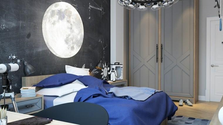 carta da parati foto luna piena letto lenzuola mobili arredo cameretta ragazze