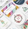 cartellini colorati buco corda etichette personalizzate vestiti oggetti