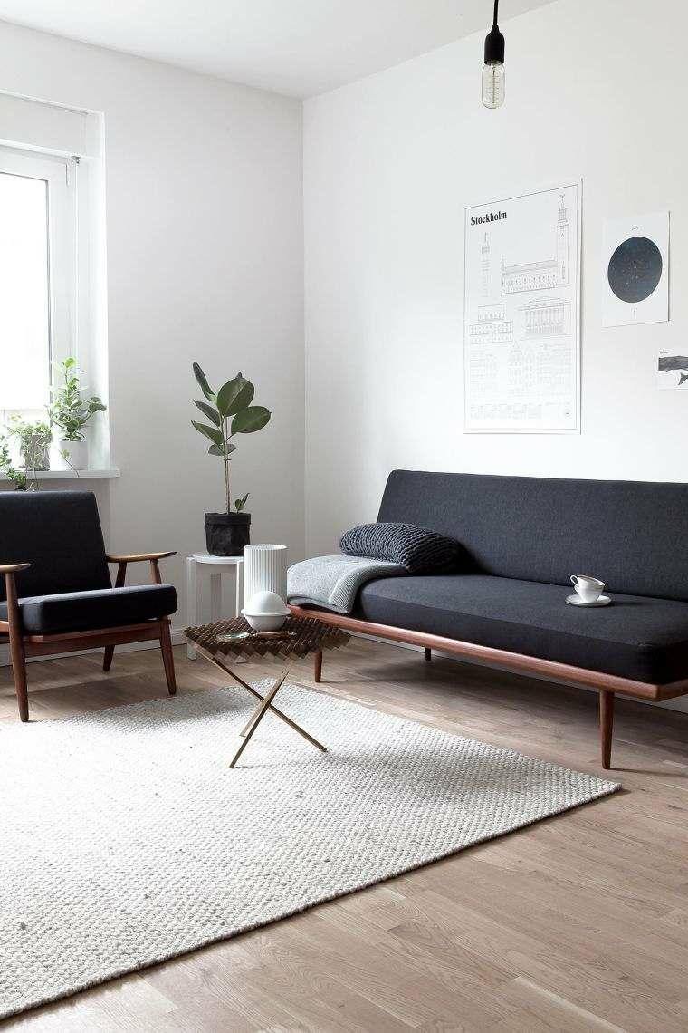 come arredare sala e salotto insieme divano tavolino poltrona pianta verde