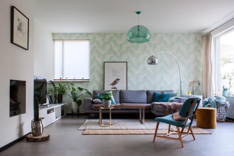 come arredare un salotto divano poltrona tavolino piante da interno appartamento