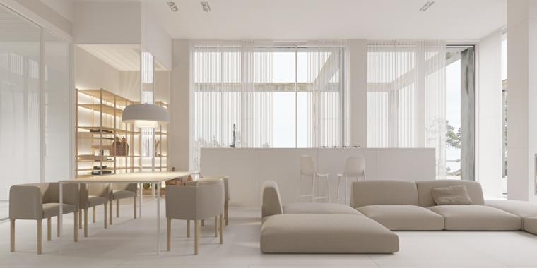 come arredare un soggiorno rettangolare divano grigio tavolo da pranzo