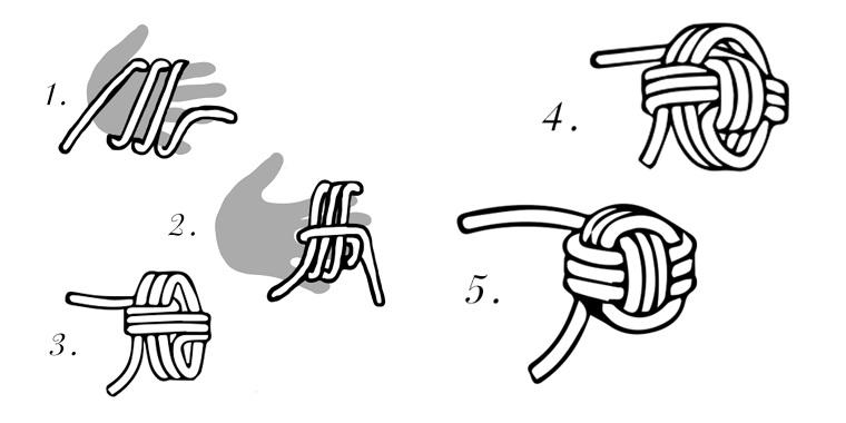 come fare un nodo tutorial cuscini particolari fatti a mano tessuto ovatta