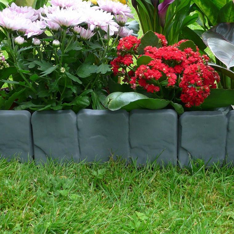 cordoli per giardino plastica piante foglie erba prato fiori giardinaggio