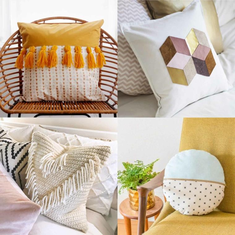 decorazione divano poltrona cuscini fodere fatte a mano frange nappe lana