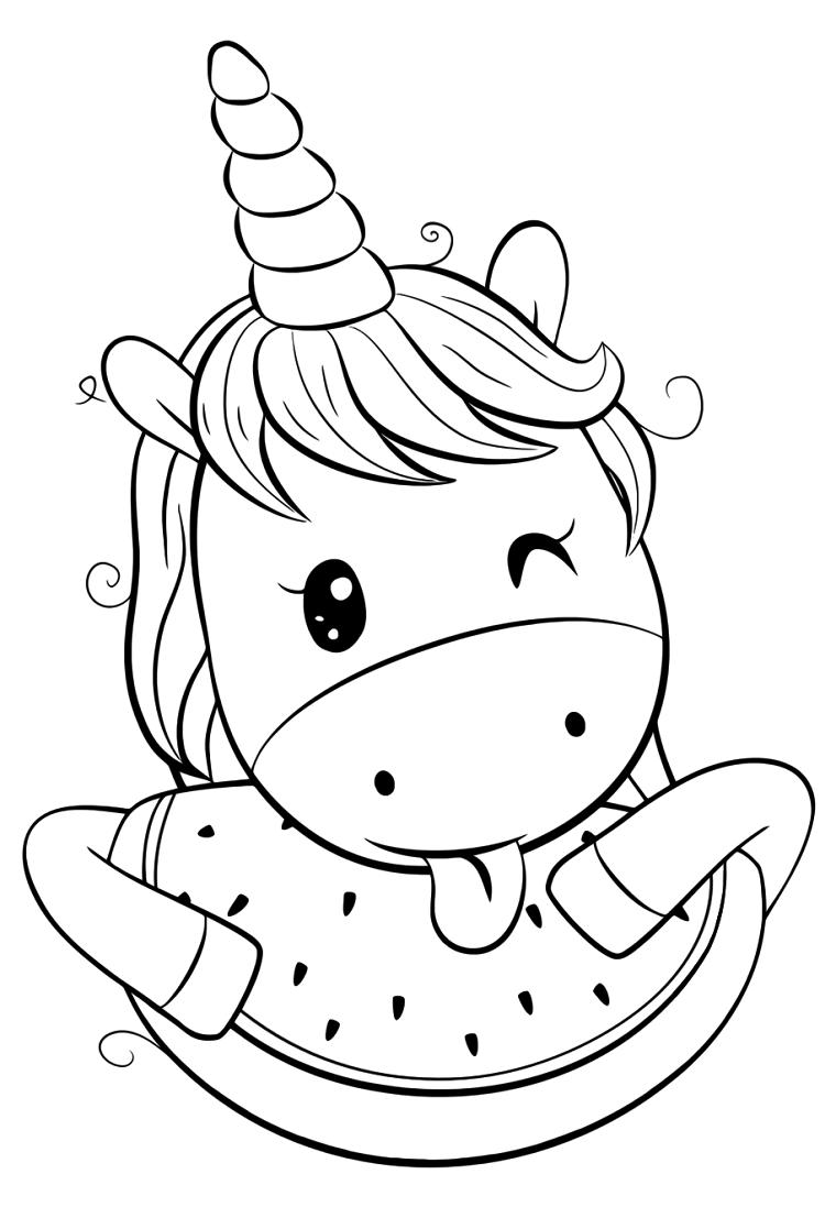 Unicorno Da Colorare.1001 Idee Per Unicorno Da Colorare Con Disegni