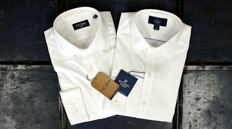 due camicie uomo cartellini etichette personalizzate brand logo maschio