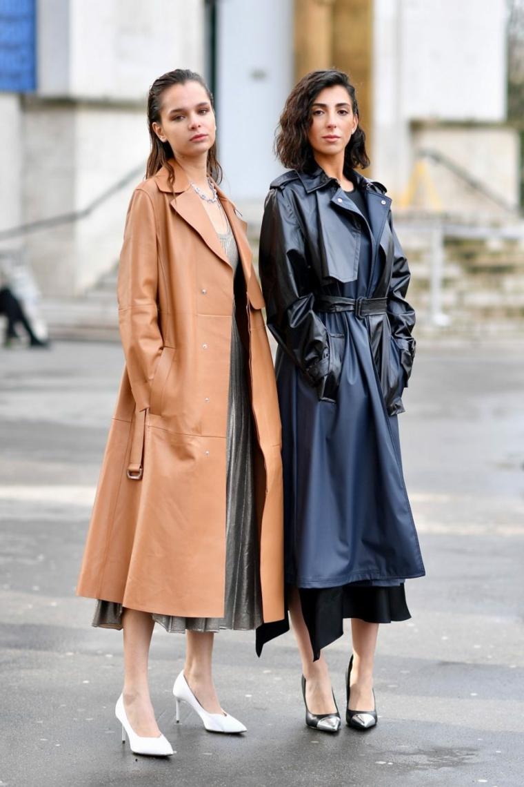 due ragazze taglio capelli lunghi scalati colore castano ricci mossi