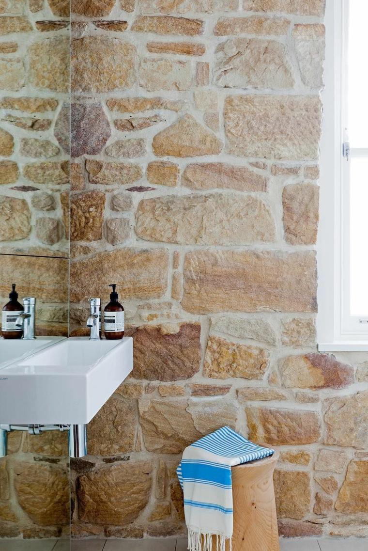 rivestimento bagno effetto pietra lavabo sedia mobile lavabo gres porcellanato