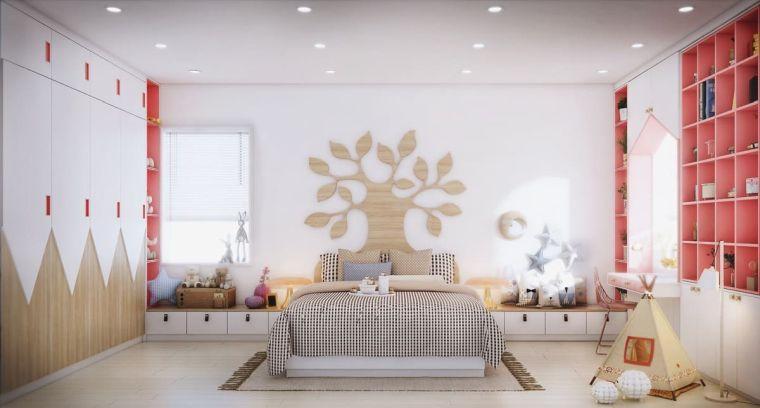 sticker albero da parete armadio disegni cameretta mobili bambina