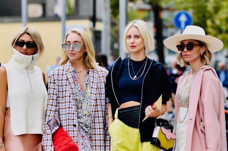 tagli corti 2020 donne immagini cappello paglia colorazione capelli biondi