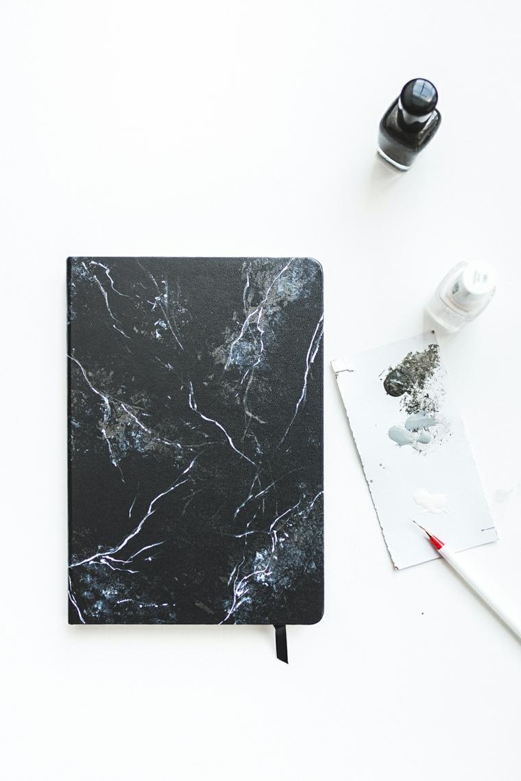 bullet significato agenda copertina rigida tutorial decorazione effetto marmo smalti per unghie