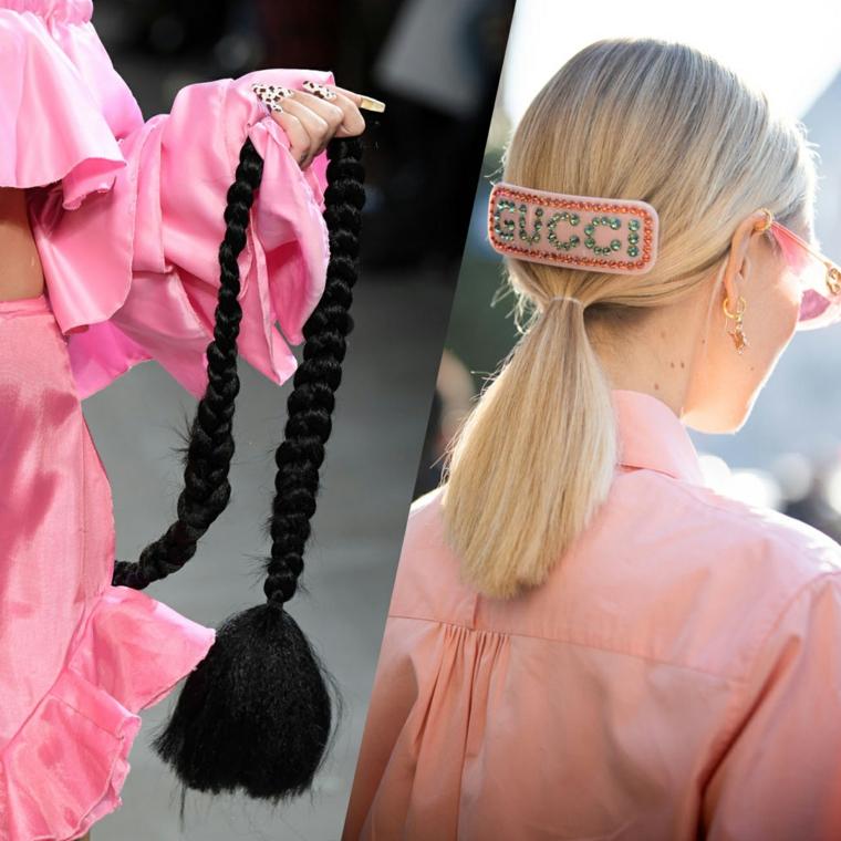 colore capelli autunno inverno 2020 biondo acconciatura taglio long bob molletta gucci