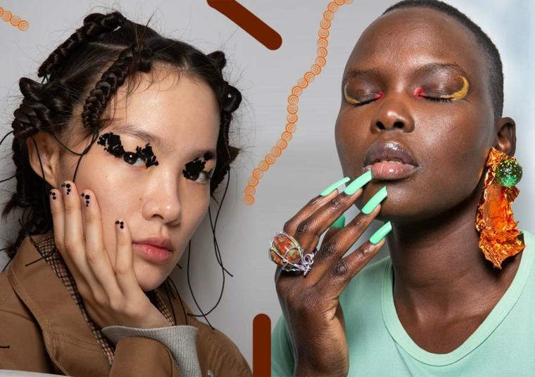 due donne con smalto sulle unghie colori gel unghie autunno 2020