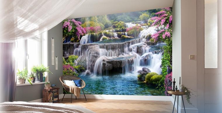 fotomurali giardino delle grandi cascate decorazione camera da letto