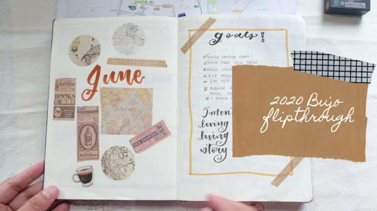 francobolli decorazione bullet journal quaderno appunti obiettivi scritte