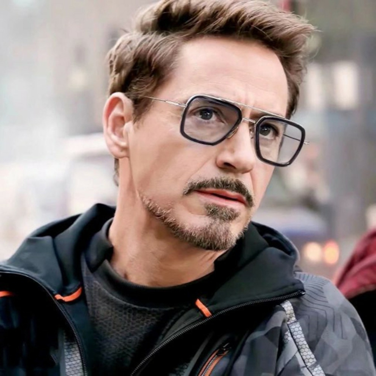 occhiali da vista uomo 2020 tendenze modello quadrato metallo lenti colorate