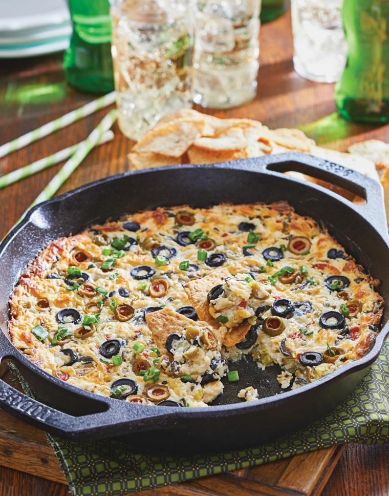 teglia con sformato di verdure e olive idee per aperitivo in casa