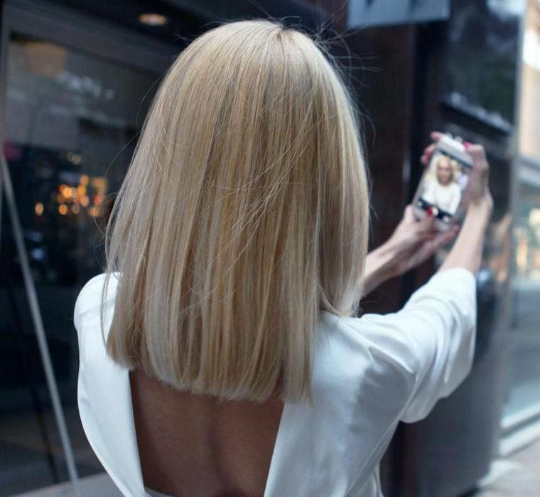 capelli corti autunno 2020 acconciatura taglio long bob liscio lunghezze pari