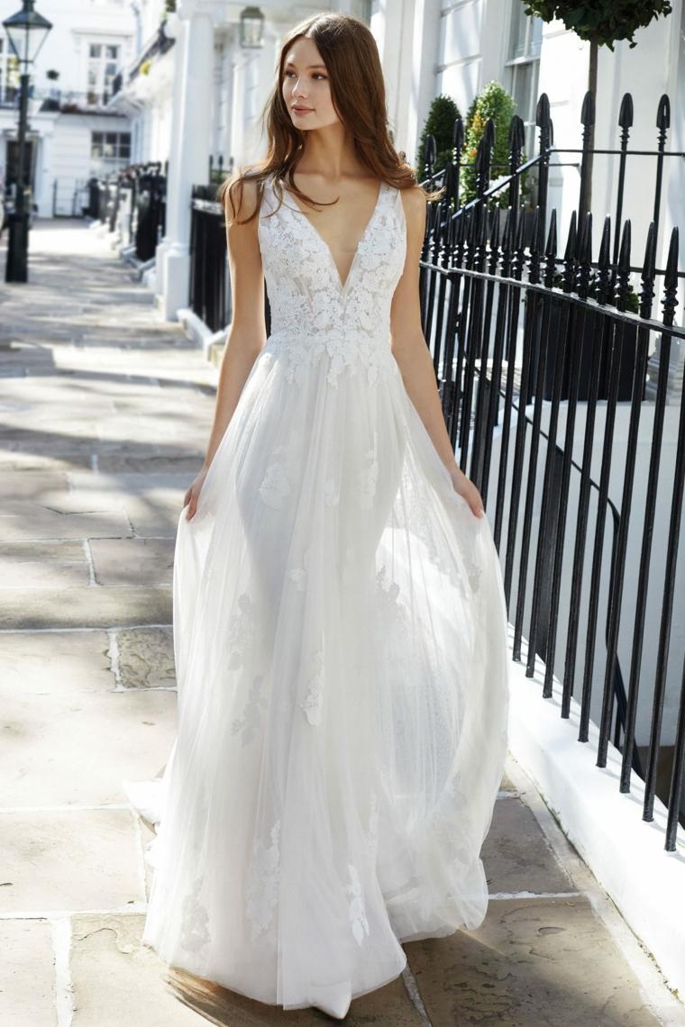 justin alexander primavera estate 2021 anteprima abiti da cerimonia donna in vestito da sposa